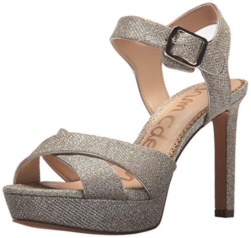 Sam Edelman Women's Jordan Heeled Sandal, Jute Glitz Fabric, 8.5 Medium US by Sam Edelman