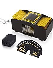 Automatic Card Shuffler 2 Deck Card, Talent Star 2 Deck USB/Battery Operated Electric Card Shufflers for Home Card Games, Poker, Rummy, Blackjack, UNO, Texas Holdem
