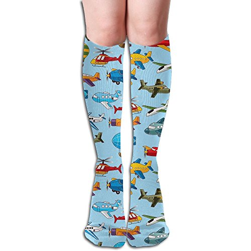 Long Stocking Airship Plane Texture Women's Over Knee Thigh Winter Warm Sexy Stocks Knitting Welt]()