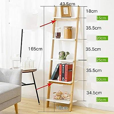 MDD Estantería de estantería Escalera blanca Unidad de estantería Exhibidor de almacenamiento Estante inclinable Estante resistente, moderno y versátil para cualquier estante interior interior Ahorro: Amazon.es: Bricolaje y herramientas