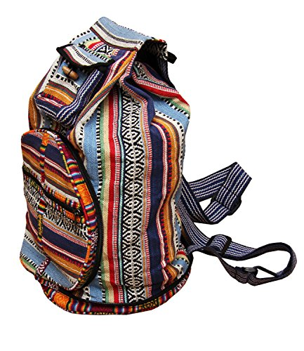 The Hippy Clothing Co. Foldable Hippie Backpack   Circle