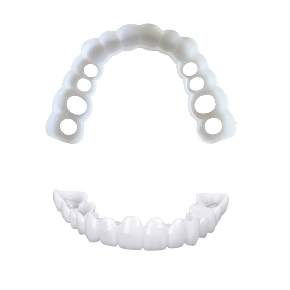 Huapa Professional Dental Guard-Whitening Braces Emulation Braces Snap on Smile Whitening Teeth Snap Cosmetic Denture Easy Wear Tooth Wear