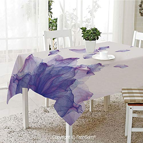 AmaUncle 3D Print Table Cloths Cover Abstract Themed Modern Futuristic Image with Water Like Colored Art Print Kitchen Rectangular Table Cover (W60 -