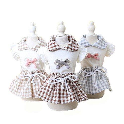 Global Brands Online Summer Princess Maid Dress Dog Dress Pet Products Clothes for Dog Pet Dog Clothing