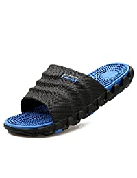U. Buy Mens Boys Lightweight Slide Slippers Waterproof Reflexology Massage Health Flip Flops for Home Beach Swimming Pool Casual Summer Sandals Outdoor Shoes