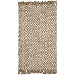 Safavieh Natural Fiber Collection NF458A Hand Woven Bleach and Natural Jute Area Rug (3\' x 5\')