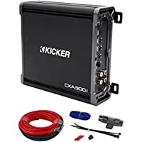 Kicker CXA300.1 300 Watt RMS Mono Amplifier + 09DPK8 Amp Kit + Extended Warranty