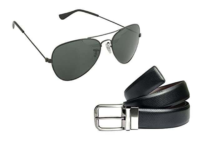f83aa7d0836 Reversible Belts   Sunglasses Combo For Men  Amazon.in  Clothing ...