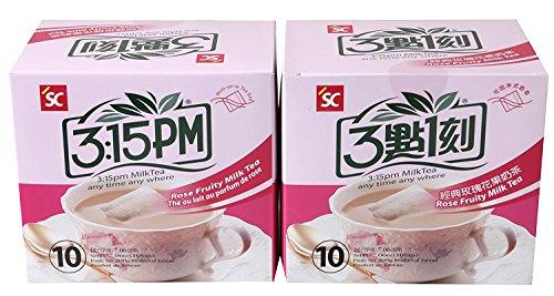 (3:15pm - Rose Fruity Milk Tea, 7.06 Oz - 10 Bags (Pack of 2))