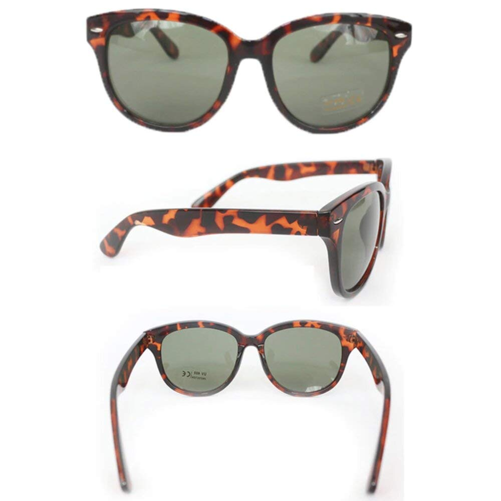 Utopiat Audrey Style Cat-Eyed Retro Tortoiseshell Sunglasses Inspired By BATs
