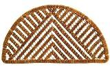 Imports Decor Half-round Spiral Doormat, Triangle, 18-Inch by 30-Inch