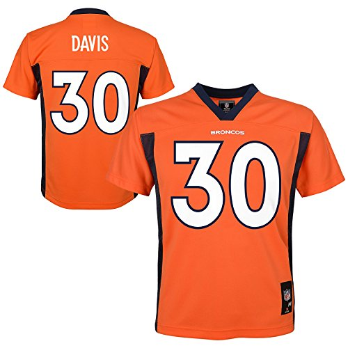 NFL Denver Broncos (Terrell Davis) Player Jersey, Youth Boys Small(8)