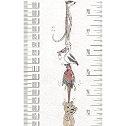 NEW Talltape Animals - Portable Roll-up/hang Height Chart, durable PVC-free plastic, FREE Sharpie Mini Marker Pen - Measures babies to adults – 0 - 6 ft 6 inches – a memento for life .NEW PACKAGING