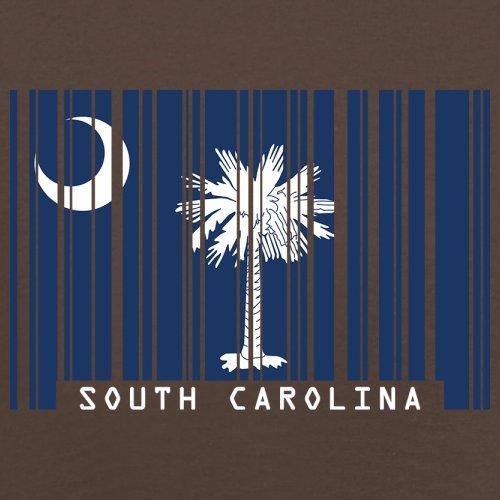 South Carolina / Süd-Carolina Barcode Flagge - Herren T-Shirt - Schokobraun - XS