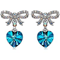 Qianse Sweet Lover Hypoallergenic Earrings With Removable Earring Jackets Made