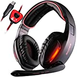Livoty Universal Sades 7.1 Stereo Headsets Surround Sound Gaming Headphones MIC (Black)