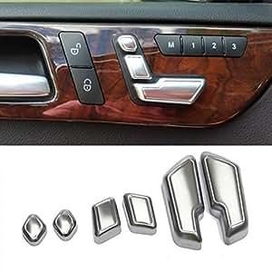 MATCC Chrome Door Seat Adjust Buttons Switch For Mercedes-Benz E Class W212 218 CLS GL