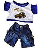 """""""Off Roading"""" outfit w/Cargo Jeans Outfit Teddy Bear Clothes Fits Most 14"""" - 18"""" Build-A-Bear, Vermont Teddy Bears, and Make Your Own Stuffed Animals"""