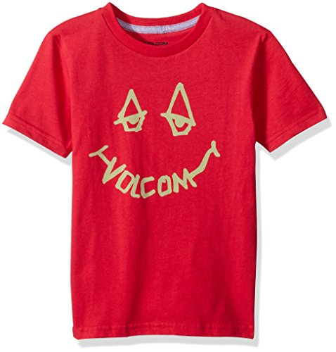 (Volcom Boys' Chill Face Short Sleeve Tee Little Youth, True red, 2T)