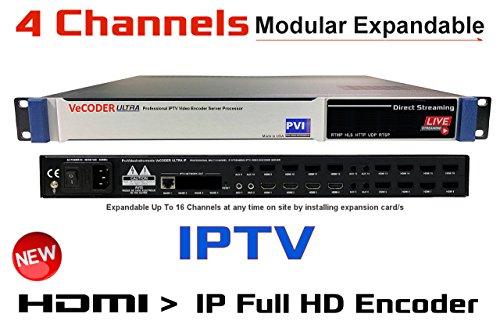 VeCODER HD4 - FOUR CHANNELS H.264 Live HDMI Video Encoder, Full 1080p RTMP IPTV Encoder, Live Stream Broadcast on Smart-TVs, wifi, internet, youtube, rtmp, hls, http, udp, rtsp, Facebook Youtube
