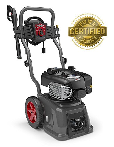 Briggs & Stratton Gas Pressure Washer 3100 PSI 2.5 GPM Lithium-Ion Electric Start with 30' Hose, 5-in-1 Nozzle & Detergent Tank -  Briggs and Stratton Power Products, 020661