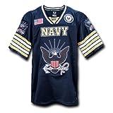 Rapid Dominance US NAVY Military Football Jersey (Navy Blue, Medium)