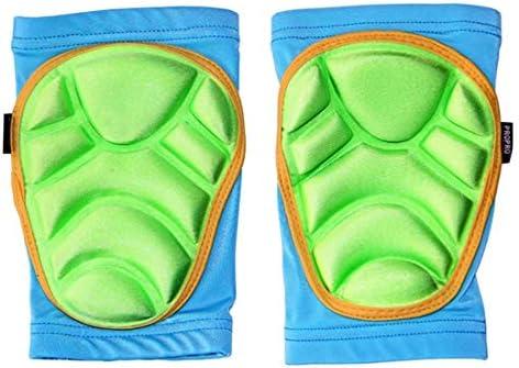 LilyAngel 子供用スケート膝パッド スケート膝パッド スキーニーパッド 屋外スポーツ用安全装置幼児向け (Color : ブルー, サイズ : XS)