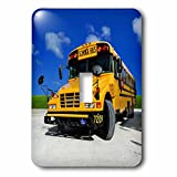 3dRose lsp_154986_1 Yellow School Bus on a Sunny Day Light Switch Cover