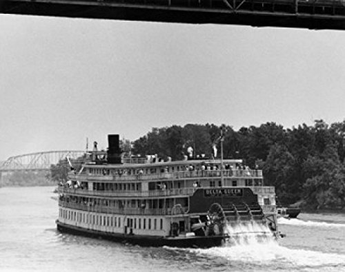 Paddleboat in a river Delta Queen Ohio River Cincinnati Ohio USA Poster Print (24 x 36) by Posterazzi