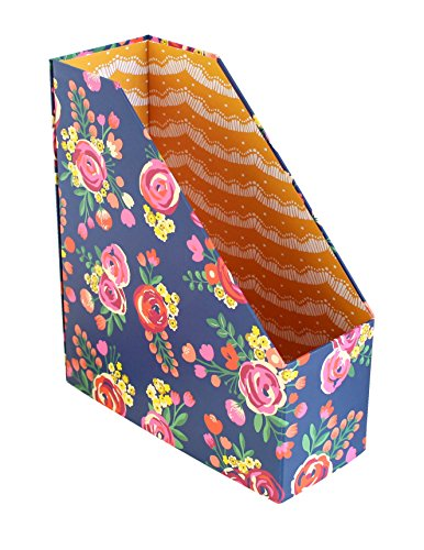 - bloom daily planners Collapsible Desk Organizer - File Folder/Magazine Holder - Vintage Floral