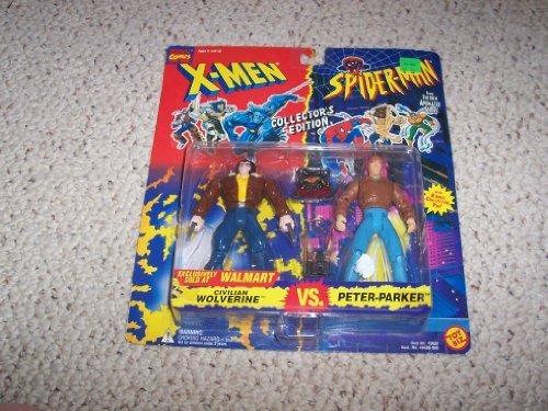 Civilian Wolverine Vs. Peter Parker Walmart Exclusive 2 Pack