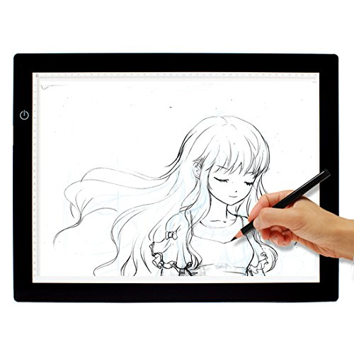 VIVINATURE A3 Ultrl-thin Artcraft Tracing Light Box Pad Dimmable Brightness LED Drawing Pad with DC 12V Power Adapter … by VIVINATURE