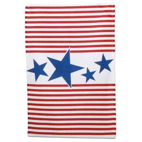 - TAG 202414 Stars & Stripes Dishtowel, Red, White and Blue, 18