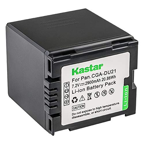 Kastar CGA-DU21 Battery for Panasonic Replacement VDR-D210 Camcorder Extended ()