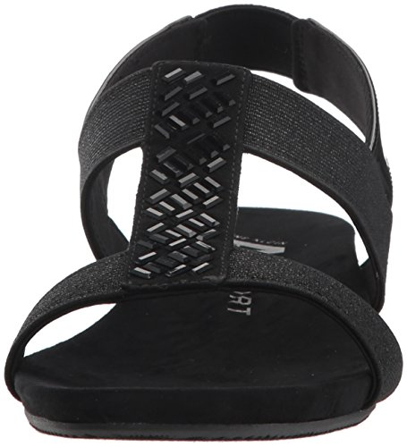 Klein Fabric Wedge Anne Multi Black Idolize Stretch Sandal Women''s ZxfzFd