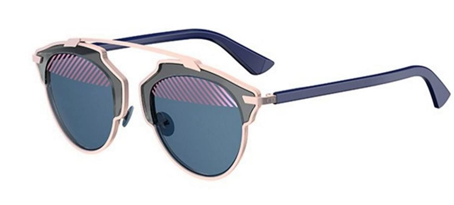 537032a3d77 Amazon.com  New Christian Dior SO REAL VUP NU Grey Light Pink Blue Violet Blue  Sunglasses  Clothing