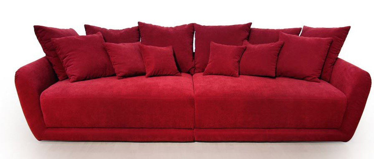Dreams4Home Big Sofa 'Chios', Wohnlandschaft XXL Wohnzimmermöbel Couch Garnitur Polstersofa rot