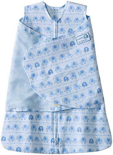 UPC 818771030306, Halo SleepSack Cotton Swaddle, Blue Print, Newborn