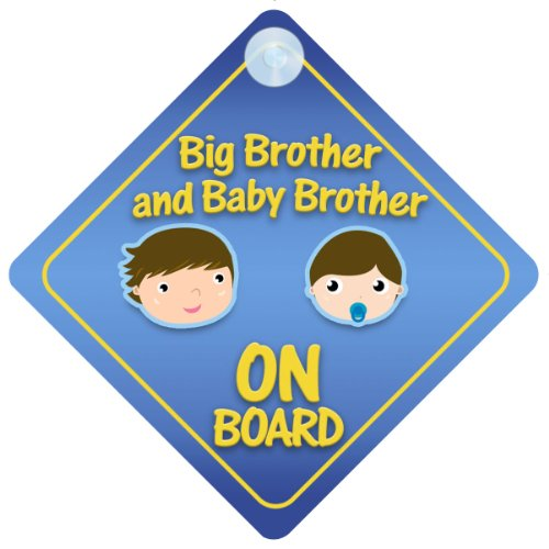 - Big Brother And Baby Brother On Board Car Sign New Baby / Child Gift / Present / Baby Shower Surprise