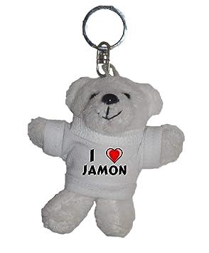 Shopzeus Llavero de Oso Polar de Peluche con Amo Jamon en la ...