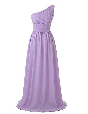 One Shoulder Chiffon Gown