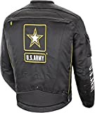US Army Alpha-X - Mens' Textile Motorcycle Jacket - Black - Large