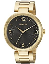 Nixon Womens Chameleon Quartz Stainless Steel Watch, Color:Gold-Toned (Model: A991513-00)
