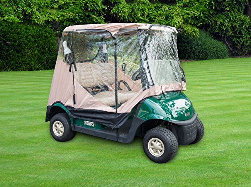 Golf Cart Rain Cover - Trademark Innovations Golf Cart Cover Enclosure Protector for 2-Seater
