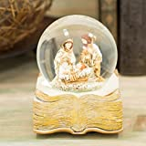 Guilded Goldtone Holy Family 100MM 6 Inch Musical