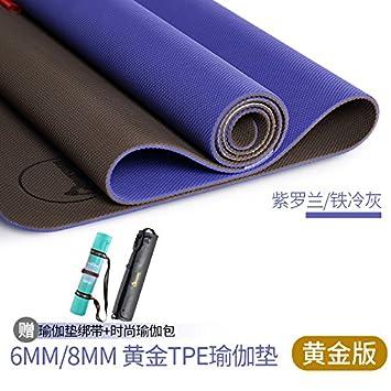 YOOMAT Las importaciones genuinos de Oro TPE Yoga Mat 6 ...