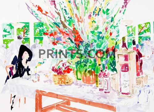 LeRoy Neiman - California Cuisine Open Edition Serigraph on Paper