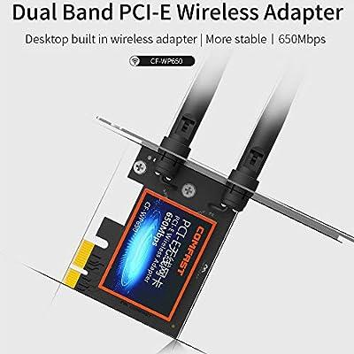 Amazon.com: DGXIAKE Wireless WiFi Adapter PCI E 650Mbps ...