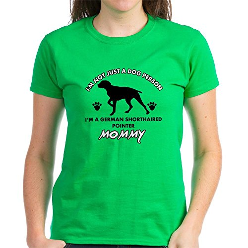 CafePress German Shorthaired Pointer De Womens Cotton T-Shirt