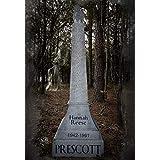 Evil Soul Studios My Angel Hannah Obelisk Tombstone Halloween Prop Haunted House Graveyard Cemetery Halloween Decoration